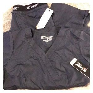 NWT Grey's Anatomy by Barco scrub top and pants